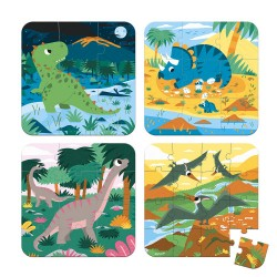 Set 4 puzzles evolutivos 4 estaciones